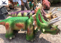Lovely Kiddie Rides Animatronic Cartoon Walking Dinosaur Motorized Toy Car