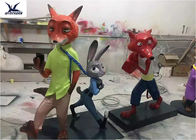Amusement Park Equipment Lovely Fiberglass Life Size Artificial Cartoon Statues