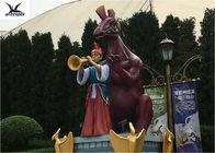 Amusement Equipment Life Size Fiberglass Cartoon Statues For Outdoor Decoration