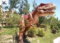 Giant Life Size Dinosaur Theme Park , Dinosaur Lawn Sculpture With Color Customized