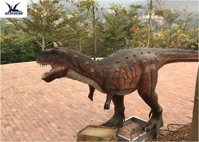 Real Estate Outdoor Dinosaur Life Size Artificial Carnotaurus Models