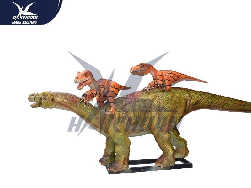 Life Size 3d Animated Dinosaur Model Decoration For Playground / City Center
